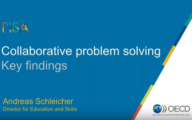First OECD PISA report on collaborative problem-solving